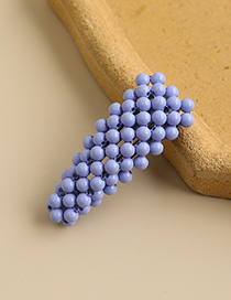 Fashion Purple Alloy Resin Beads Triangle Hairpin