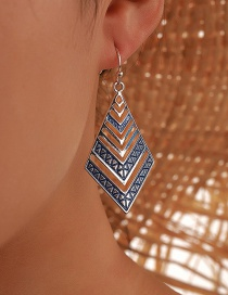 Fashion Silver Color Geometric Hollow Alloy Earrings