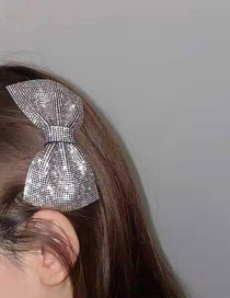 Fashion White Full Diamond Butterfly Combined With Blonde Clip