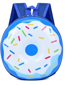Fashion Donut Light Blue Donut Shell Rainbow Kids Backpack