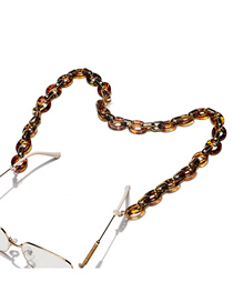 Fashion Amber Acrylic Thick Chain Glasses Chain