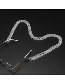 Fashion Transparent Acrylic Frosted Non-slip Glasses Chain