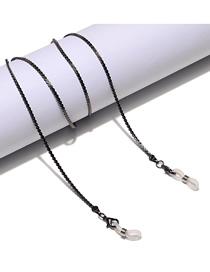 Fashion Gun Black Thin Copper Chain Skid Glasses Chain