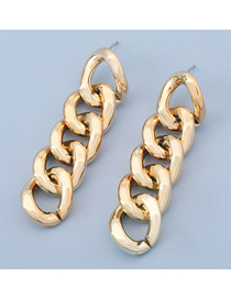 Fashion Gold Color Circle Geometric Thick Chain Earrings