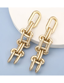 Fashion Gold Color Thick Chain Geometric Earrings