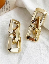 Fashion Golden Alloy Thick Chain Earrings