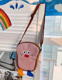 Fashion Pink Without Pendant Toast Lamb Hair Contrast Cross-body Shoulder Bag
