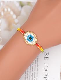 Fashion Eye Mizhu Hand-woven Eyes Rainbow Bracelet