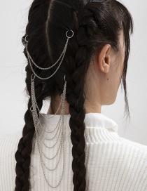 Fashion White K Multi-layer Tassel Chain Braid Set