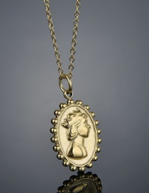 Fashion Oval Portrait Necklace Stainless Steel 14k Oval Portrait Necklace