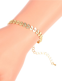 Fashion D Bracelet Glossy Love Heart Copper Plated 14k Necklace Bracelet Earring Set