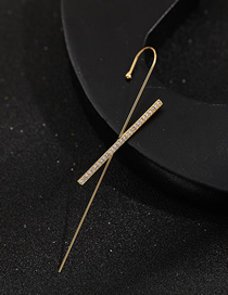 Fashion Cross Pierced And Micro-inlaid Zircon Surround Geometric Contour Earrings
