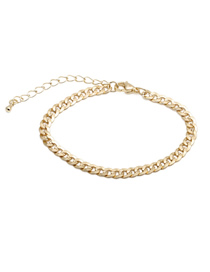 Fashion 17cm Bracelet (5cm Tail Chain) Copper Plated Thick Chain Necklace Bracelet