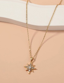 Fashion Gold Color Sky Star Diamond Alloy Necklace