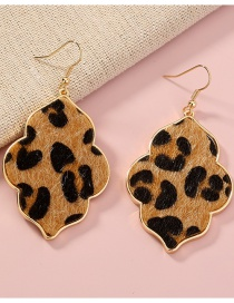 Fashion Leopard Geometric Long Leopard Print Earrings