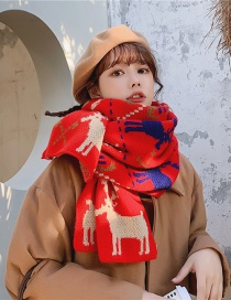 Fashion Diamond Fawn Antlers Cashmere Knit Scarf