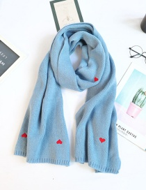Fashion Love Blue Love Wool Knitted Thick Collar