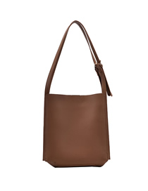 Fashion Brown Stitching Solid Color Large Capacity Shoulder Bag