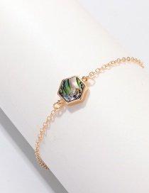 Fashion Bz1028 Bz1028 Hand Ornaments Single-layer Pendant Geometric Abalone Bracelet