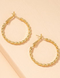 Fashion Golden Twisted Twist C-shaped Alloy Earrings