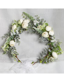 Fashion Color Mixing Fabric Flower Contrast Garland