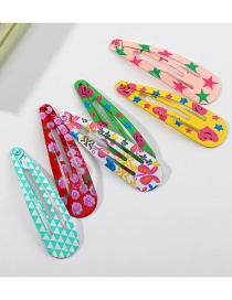 Fashion Suit Water Drop Paint Love Five-pointed Star Children Hairpin