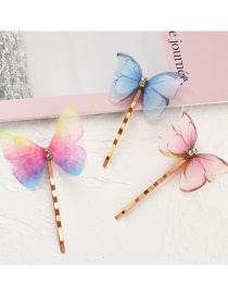 Fashion Suit Diamond Mesh Butterfly Alloy Hairpin