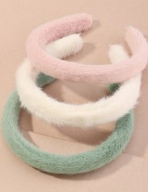 Fashion Suit Plush Contrast Color Wide-brimmed Headband