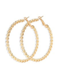 Fashion Golden Alloy Hollow Big Circle Earrings