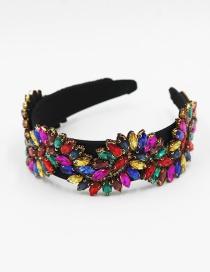 Fashion Color Diamond Wavy Broad-brimmed Headband