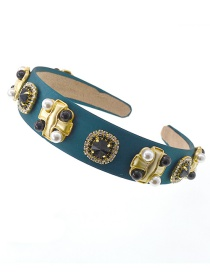 Fashion Green Pearl Go Out Diamond-studded Hair Band