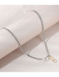 Fashion Silver Color Handcuffs Alloy Hollow Necklace