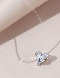 Fashion White Triangle Star Crystal Fish Line Necklace