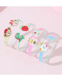 Fashion Color Mixing Acrylic Animal Children Bracelet Set