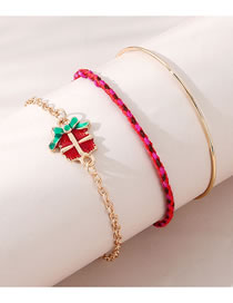 Fashion Gold Color Gift Dripping Alloy Bracelet Set