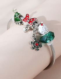 Fashion Green Diamond Drop Oil Butterfly Combined With Gold Bracelet