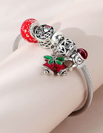 Fashion Color Mixing Small Bell Dripping Oil Alloy Beaded Bracelet