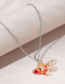Fashion Color Mixing Little Goldfish Resin Sweater Chain