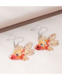 Fashion Color Mixing Little Goldfish Resin Earrings
