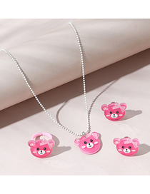 Fashion Silver Mouse Love Rice Stainless Steel Long Necklace