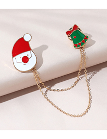 Fashion Bells Christmas Series Christmas Bell Dripping Alloy Brooch