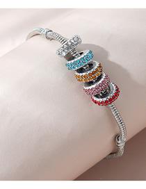 Fashion Color Mixing Diamond Beaded Contrast Bracelet