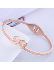 Fashion Rose Gold Curse Titanium Steel Open Bracelet
