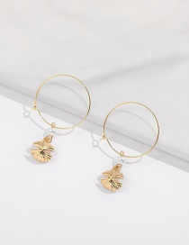 Fashion Golden Alloy Ring Pearl Pirate Hat Ear Ring