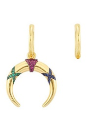 Fashion Color Two Asymmetric Colorful Striped Earrings