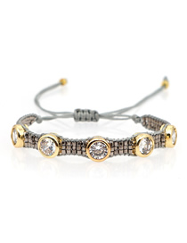 Fashion Drill Rice Beads Woven Beaded Bracelet