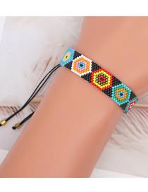 Fashion Color Mixing Geometric Beaded Rice Bead Woven Bracelet
