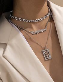 Conjunto De Collar Con Etiqueta Con Forma De Dragón Y Borlas Y Diamantes