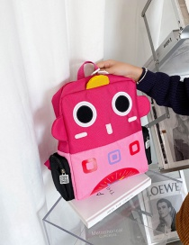 Fashion Pink Cartoon Robot Print Kids Backpack