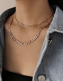 Fashion Golden Multilayer Tassel Alloy Necklace